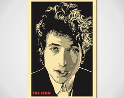 Placa Decorativa- Bob Dylan