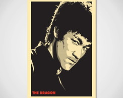 Placa Decorativa Bruce Lee