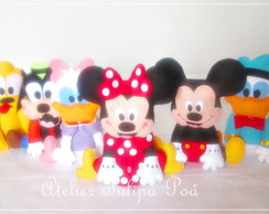 kit 6 Centros de Mesa Turma do Mickey 21 cm