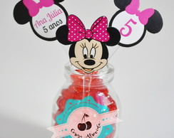 Topper Minnie rosa recorte