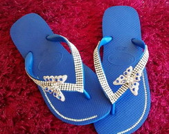 Chinelo Customizado Azul