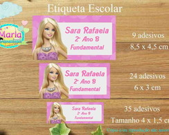 Kit de adesivos escolar Barbie