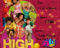 Convite - High School Musical