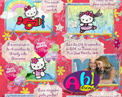 Convite - Hello Kitty Gibi