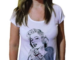 Camiseta Feminina marilyn monroe tattoo