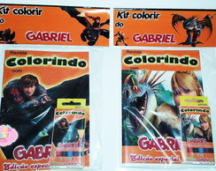 Kit colorir Como Treinar o seu Dragão