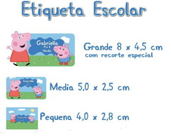Etiqueta Escolar Peppa Pig - Kit 1