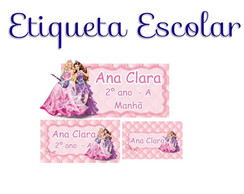 Etiqueta Escolar Barbie - Kit 1
