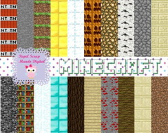 KIT PAPEL DIGITAL MINECRAFT 4