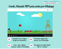 Convite Animado MP4 Angry Birds