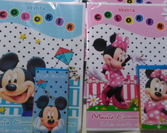 Kit colorir mickey e minnie
