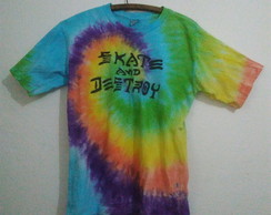 Camiseta tie dye Skate and Destroy