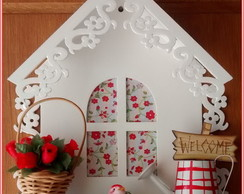 Porta Chaves Casinha - Garden Red