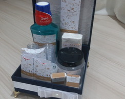 Kit toillete masculino luxo com renda