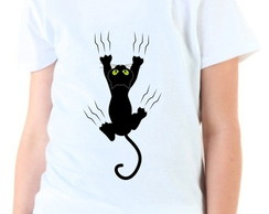 Camiseta Infantil Scratching Cat