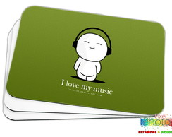 MOUSE PAD ''I LOVE MY MUSIC'' (MPAD0008)