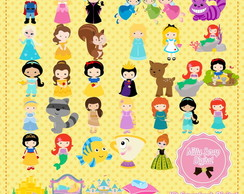 Kit Scrapbook Digital Princesas Cute