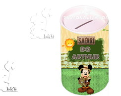 Cofrinho -Safari Do Mickey