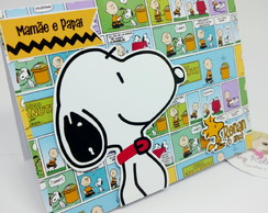 Convite Snoopy pop up