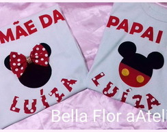 Camiseta Personalizada minnie e mickey
