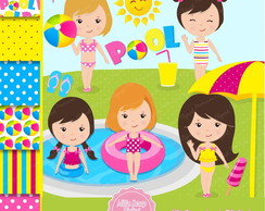 Kit Scrapbook Digital Piscina
