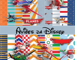 Kit Scrapbook Digital Aviões Disney