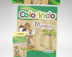 Kit Colorir Mickey Safari + Brindes
