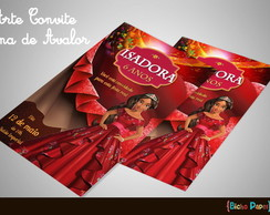 Convite Elena de Avalor (Arte Digital)