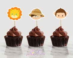 Toppers Para Doces Safari