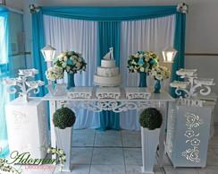 ... Aluguel Decoração Casamento Azul Tiffany 499c58b529