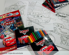 Carros Disney - Kit Colorir