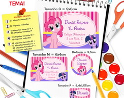 Etiqueta Escolar - My Little Pony