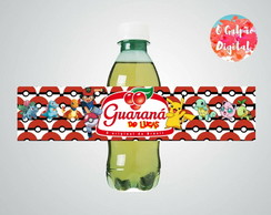 Rótulo de Guaraná Pokemon