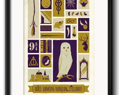 Quadro Harry Potter Minimalista Paspatur