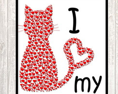 Poster Digital- Love my Cat