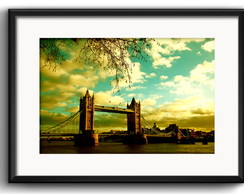 Quadro Londres Tower Bridge com Paspatur