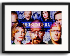Quadro Breaking Bad Personagens Paspatur