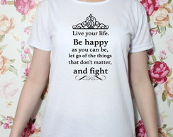 Camiseta Be Happy baby look (TAM. M)