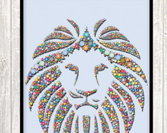 Poster Digital - Lion Colorful