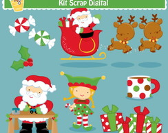 Kit Digital Scrap Papai Noel