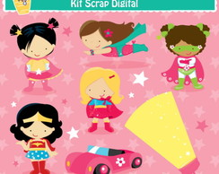 Kit Digital Scrap Super girls