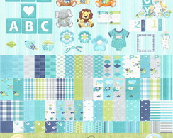 Kit digital Safari Baby-Scrapbook+brinde