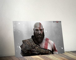 Quadro Decorativo Kratos God Of War