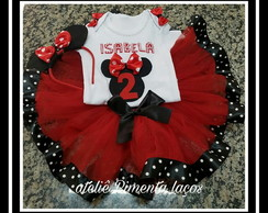 Body Infantil Tema Minnie