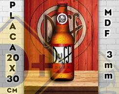 Placa decorativa Bebidas Duff