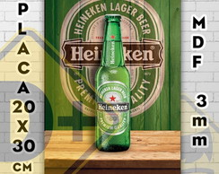Placa decorativa Bebidas Heineken