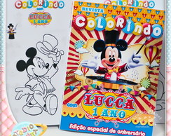 Revista colorir circo do Mickey Mouse