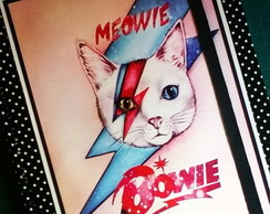 Caderno Meowie Bowie