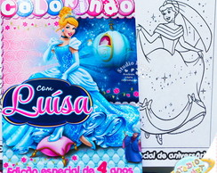 Revista de colorir Cinderela Disney