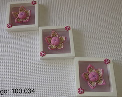 Kit Trio de Quadros Flores